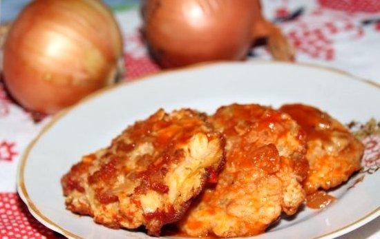 луковые котлеты рецепт с фото с манкой в томате